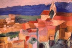 Case dai tetti rossi - Olio su carta 73 x 48 – € 250