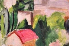 Case sulla collina - Olio su carta 73 x 48 – € 250