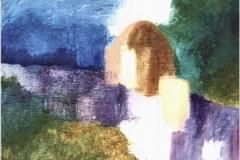 Sogno notturno - Olio su tela di sacco 50 x 70 - € 200