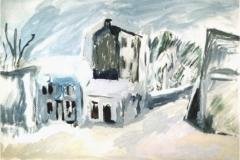 Villaggio sotto la neve - Tempera su foglio 45 x 30 - € 100