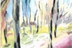 Paesaggio autunnale - Tempera su tela 30 x 20 - € 100