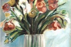 Fiori in un vaso - Olio su tela di sacco 50 x 70 - € 200