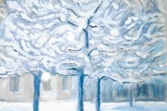 Alberi carichi di neve - 50 x 35