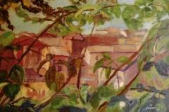 Case attraverso gli alberi - 50 x 35