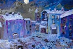 Case con la neve - 50 x 35