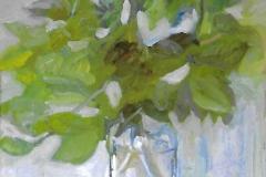Fiori in vaso di vetro - 50 x 35